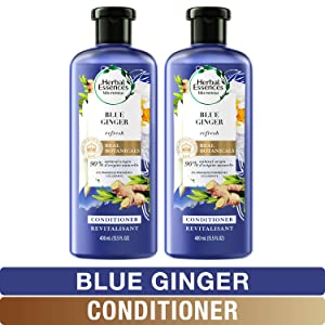 Herbal Essences, Volume Conditioner With Natural Source Ingredients, For Fine Hair, Color Safe, BioRenew Blue Ginger, 13.5 fl oz, Twin Pack
