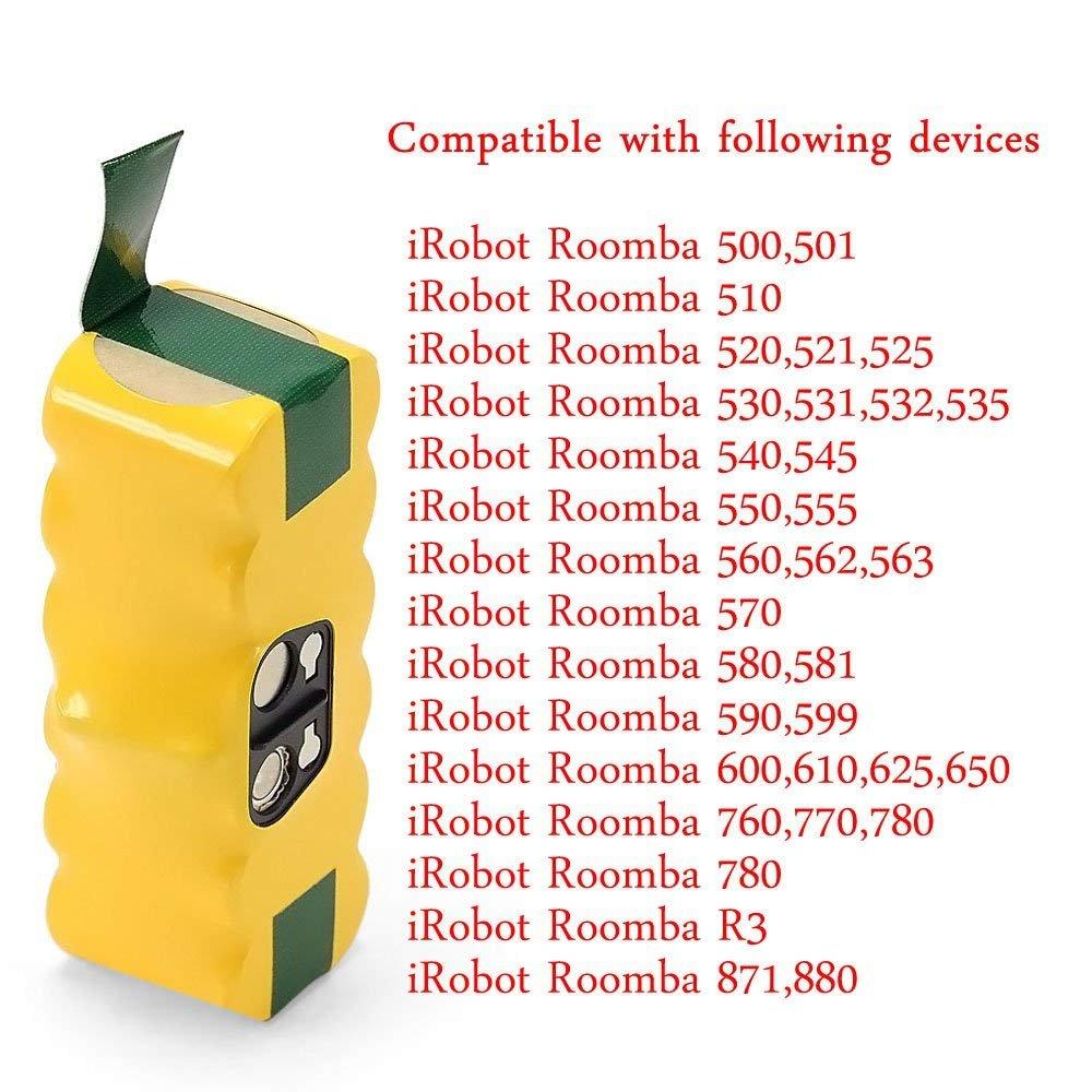 14.4V 3,0AH Batterie Akku für iRobot Roomba500 510 531 532 534 561 562 563 564