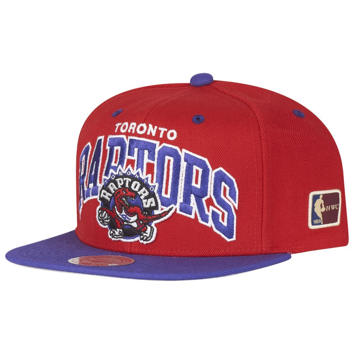 Mitchell /& Ness Snapback Toronto Raptors Team Arch HWC red//purple