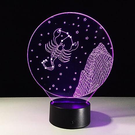 Ilusión tridimensional Lámpara de mesa Lámpara de noche con ...
