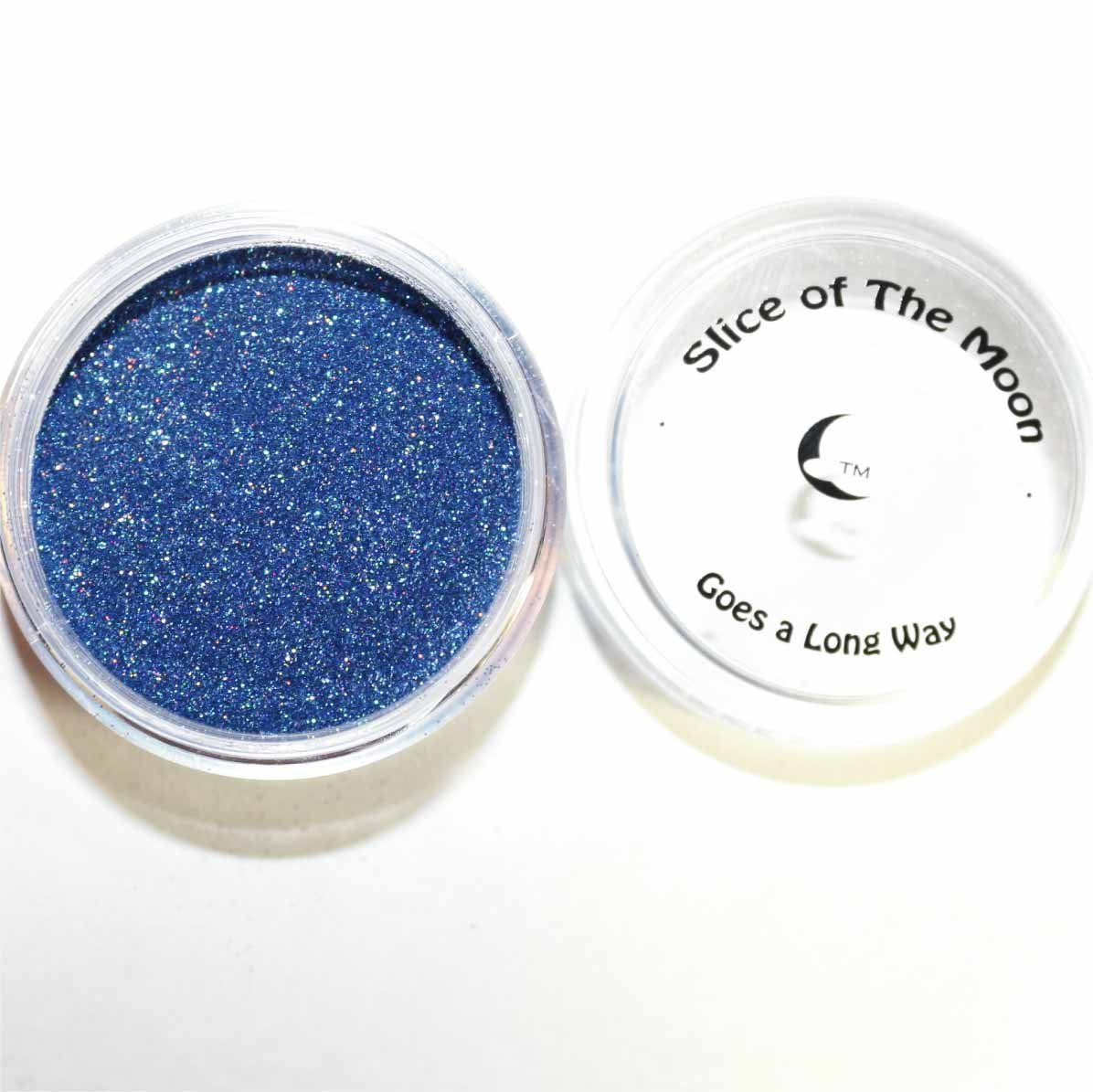 Holographic Dark Blue Glitter Powder 15g – Non-solvent Glitter Powder, Slice of the Moon