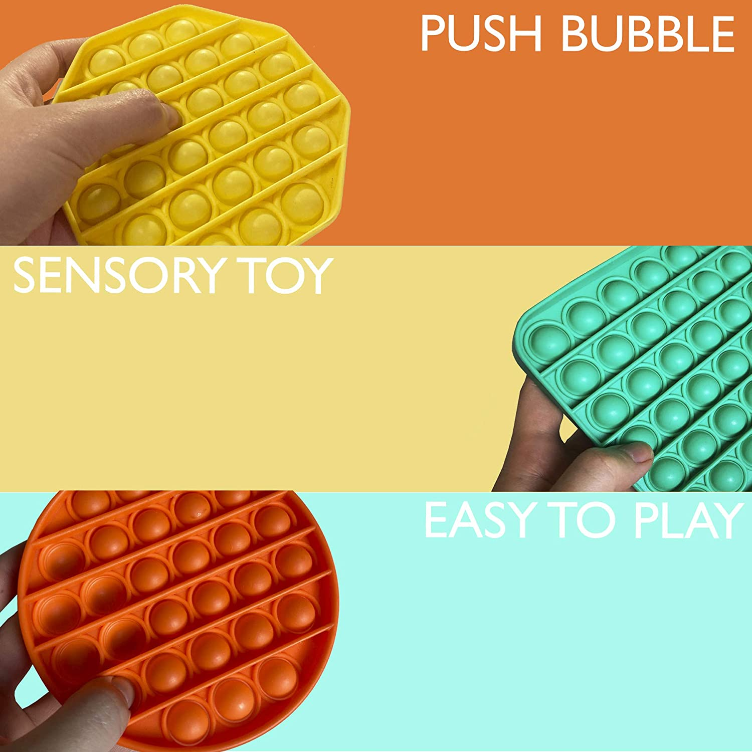 Yellow Bubble Popping Popping Game Chuckle and Roar Stress Reliever Push it Bubble Popping Fidget Toy LELUU Fidget Toy