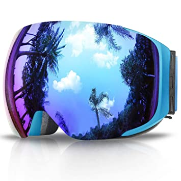 1195340c5c7071 eDriveTech Skibrille, Ski Snowboard Brille Brillenträger Schneebrille  Snowboardbrille Verspiegelt- Für Skibrillen Damen Herren -