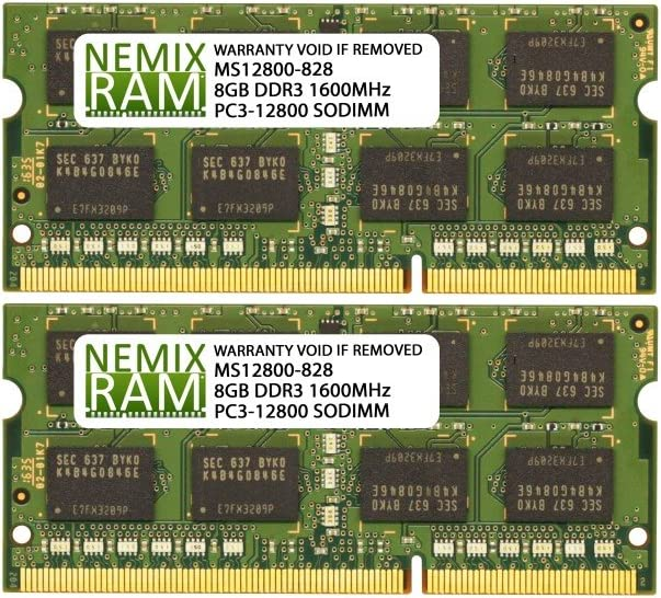 NEMIX RAM 16GB 2X8GB DDR3L-1600 Memory for Apple MacBook Pro 2012 9,1 9,2