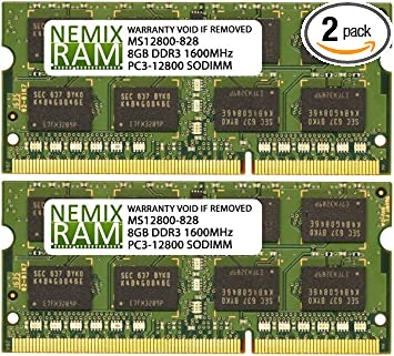 "US 16GB 2x8GB 1600MHz PC3L-12800  For  MacBook Pro Mid-2012 15/""  A1286 Memory"