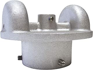 """product image for 2.375"""" Double Pulley Cast Aluminum Cap Style Stationary Flagpole Pulley Truck, with Set Screws, Made in USA"""
