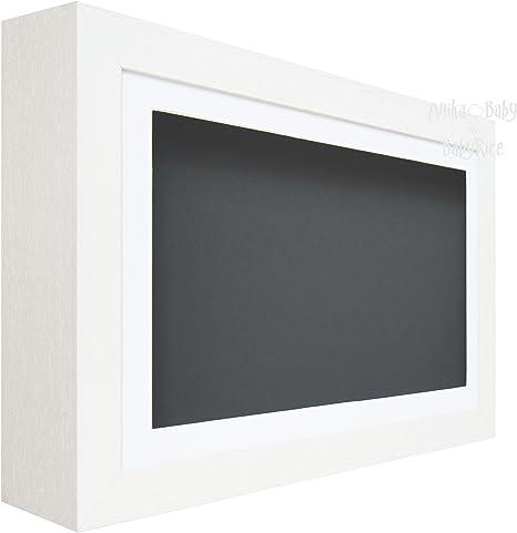 BabyRice de profundidad caja de sombra pantalla marco de madera – blanco – para 3d objetos, Art, adornos, Mano Pie Casts: Amazon.es: Hogar