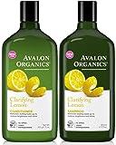 Avalon Organics Clarifying Lemon, DUO Set Shampoo + Conditioner, 11 Ounce, 1 Each