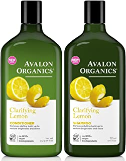 product image for Avalon Organics Clarifying Lemon, DUO Set Shampoo + Conditioner, 11 Ounce, 1 Each