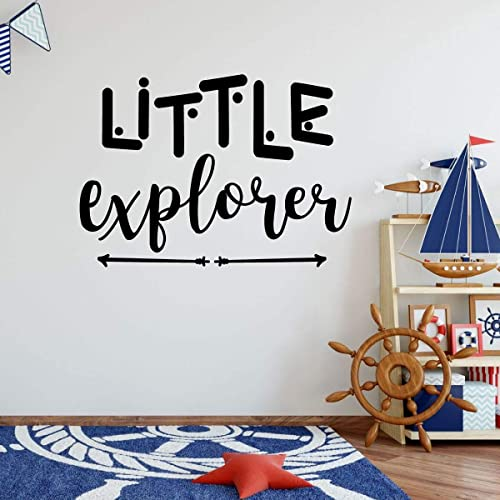 Amazon.com: Children\'s Room Wall Decal – \'Little Explorer\' with ...