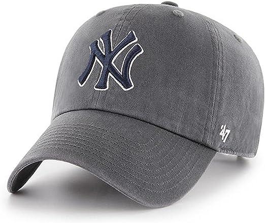 unique design online store famous brand Amazon.com : 47 Brand MLB New York Yankees Clean Up Cap - Charcoal ...