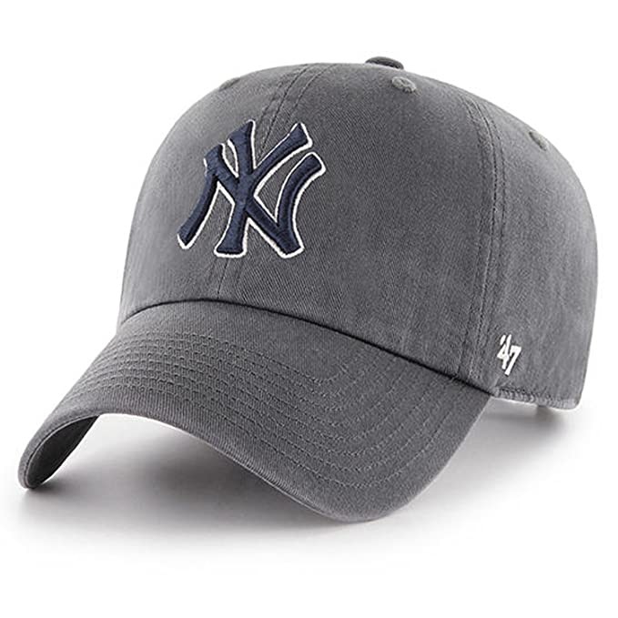 ea186c2c5941d4 Amazon.com : 47 Brand MLB New York Yankees Clean Up Cap - Charcoal Gray :  Sports & Outdoors