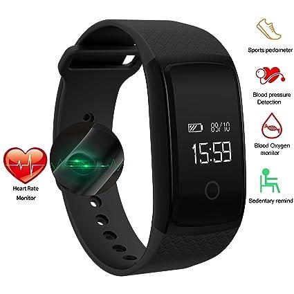 ONSTON Pulsera para reloj inteligente impermeable IP67. Pulsera de actividad con monitor de frecuencia cardíaca