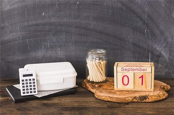 Back to School Chalkboard Backdrop TL1145  on Glare Free Vinyl 7/' wide by 5/' tall