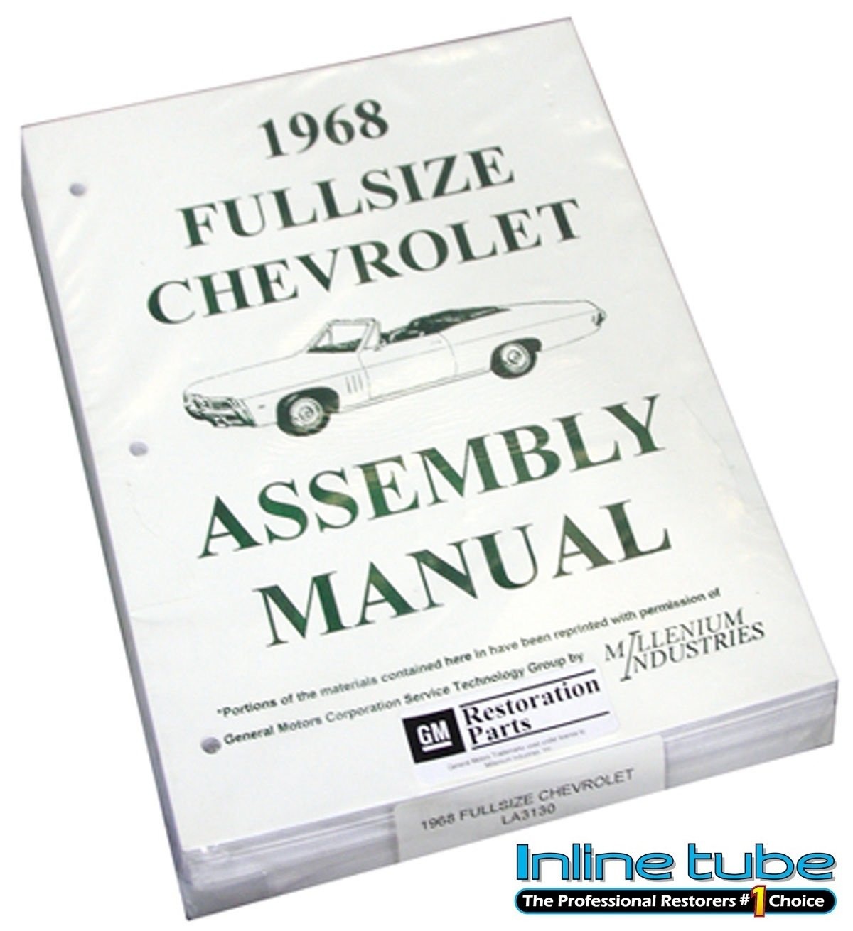 Inline Tube (I-2-13) Factory Assembly Manual for 1968 Chevrolet Full Size Cars Impala, Bel Air and Wagons