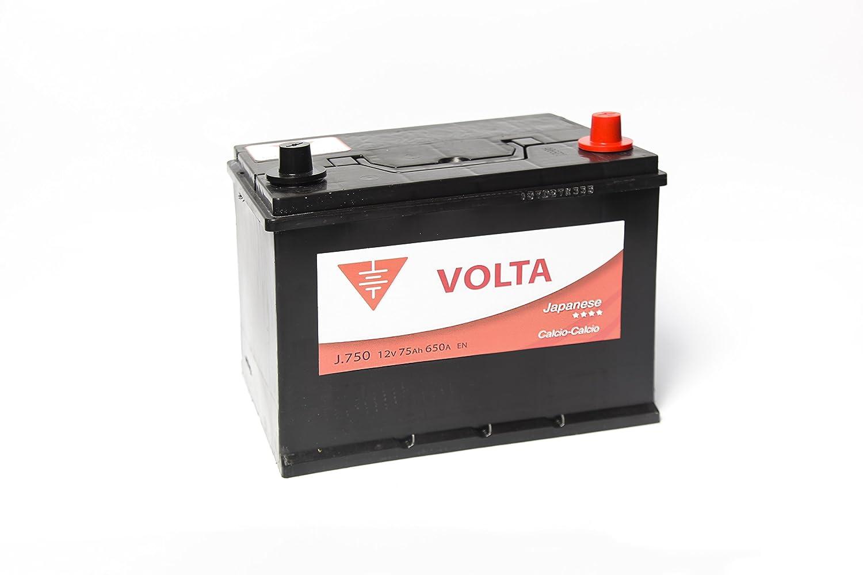 Bateria de coche 75 Ah caja asiá tica +Dcha Industria del coche
