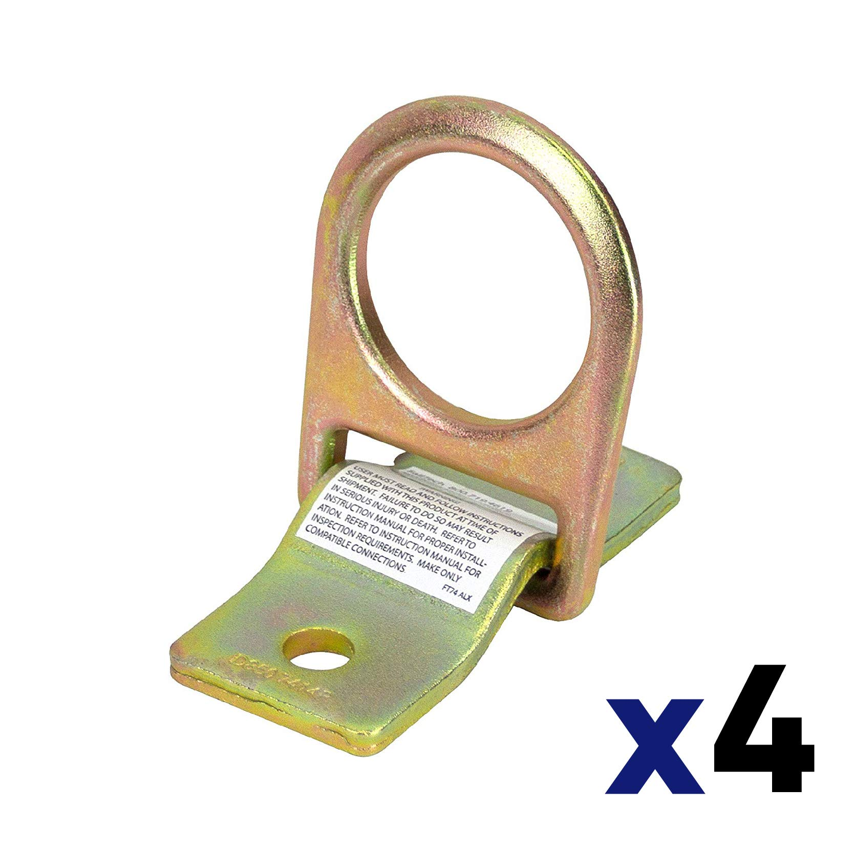 FallTech 7414 Bolt-On D-Ring Anchorage (4 pack) by FallTech