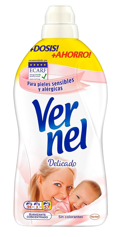 [Pack de 4] VERNEL Suavizante Concentrado Delicado Botella 57 lavados