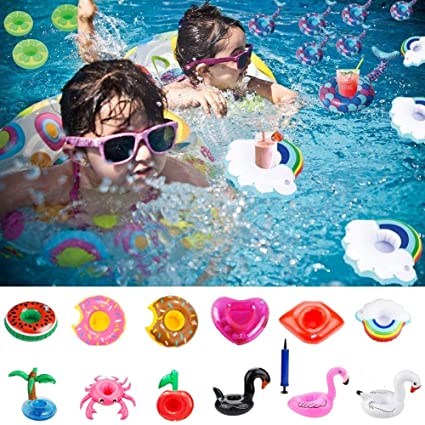 eca1260f556 Amazon.com  Cooliya Inflatable Drink Holders