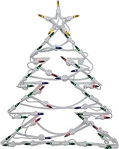 "Northlight 18"" Lighted Tree Christmas Window Silhouette Decoration"