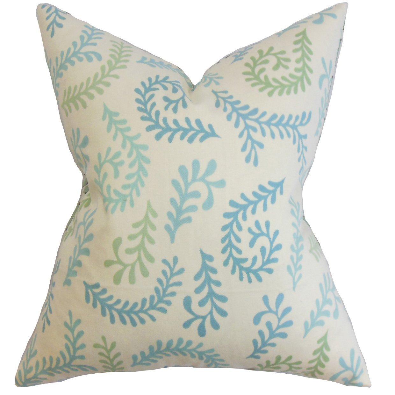 The Pillow Collection Niall Floral Bedding Sham Blue European//26 x 26