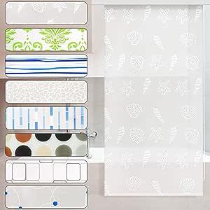 Estor de ducha casa pura® Océano impermeable | 4 tamaños | antibacterias, sin plastifiants, ecológica | fijación al techo: Amazon.es: Bricolaje y herramientas