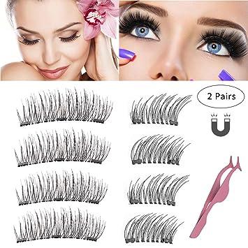 17e69c403e9 Magnetic Eyelashes 3 or 2 Magnets Magnetic Lashes Natural Full Eye Magnetic  Fake Lashes Ultra Thin