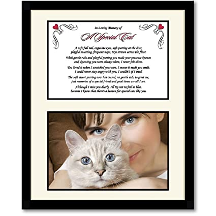 Kitten or Cat Sympathy Gift –Touching Poem When Pet Dies – Add Photo to  Frame