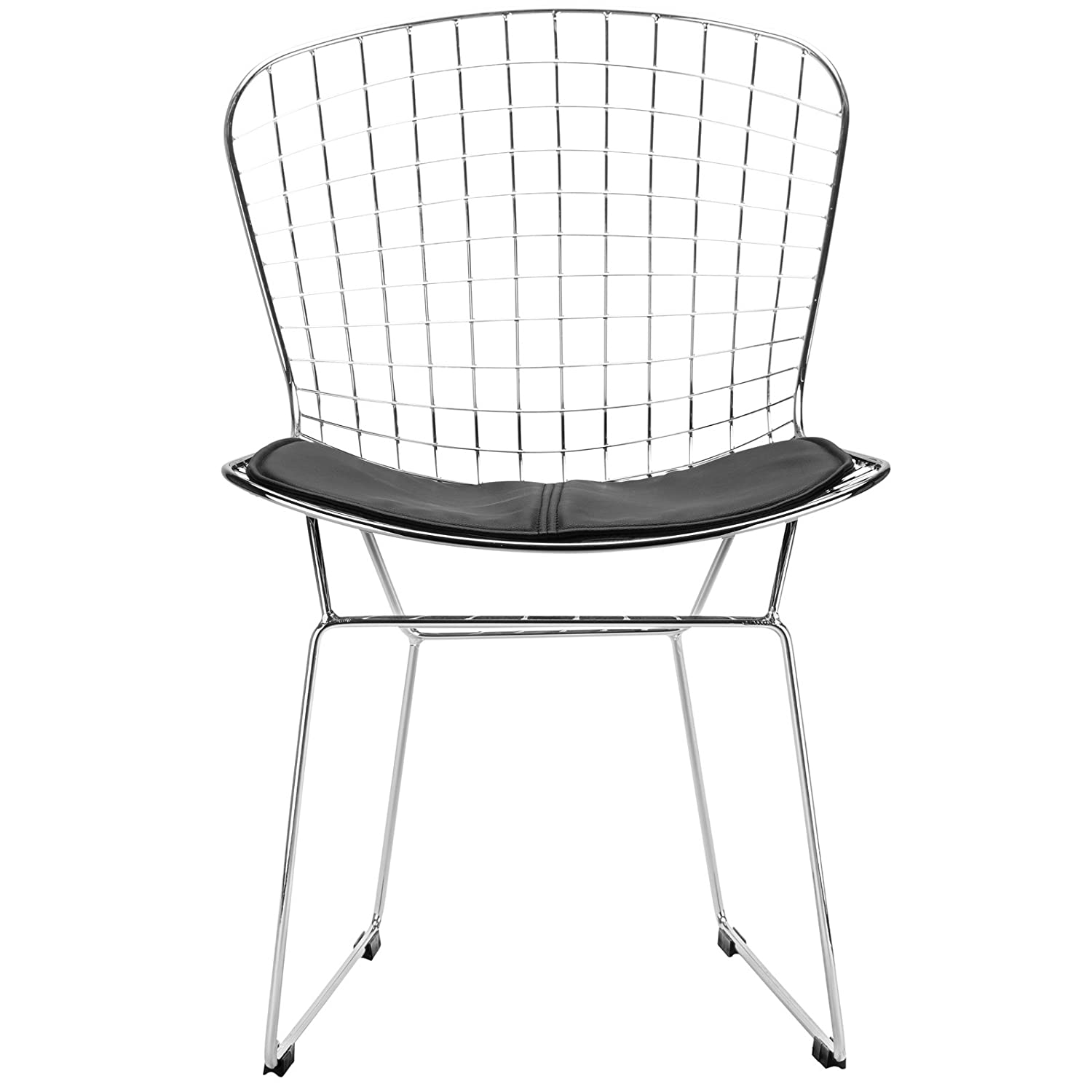 Bertoia diamond chair black - Amazon Com Poly And Bark Bertoia Style Wire Dining Chair Black Kitchen Dining
