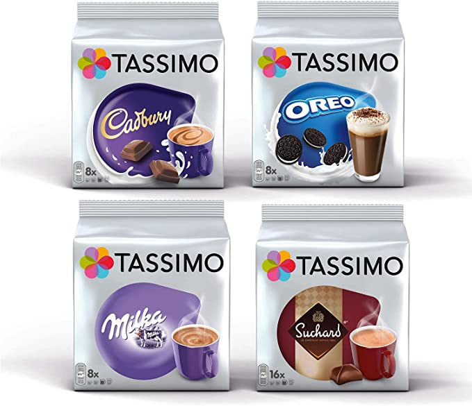 Tassimo Hot Choco Bundle Cadbury Oreo Milka Suchard Pods Pack Of 4 40 Servings