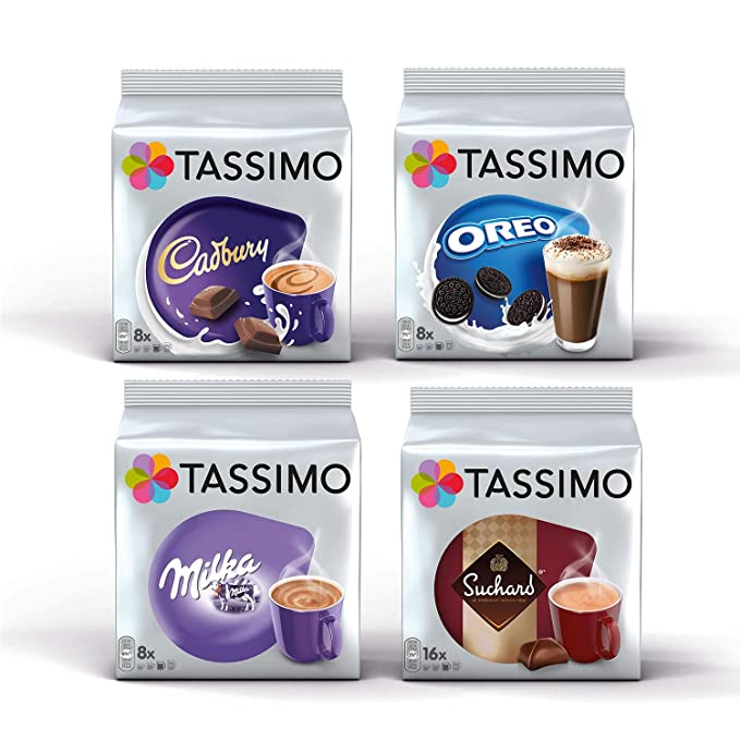 Tassimo Hot Choco Bundle Cápsulas - Cadbury, Oreo, Milka, Suchard ...