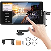Neewer FW600 5.5-Inch Touch Screen Camera Field Monitor Full HD 1920x1080, 4K HDMI DC in/Output Waveform/Vector Scope/3D…