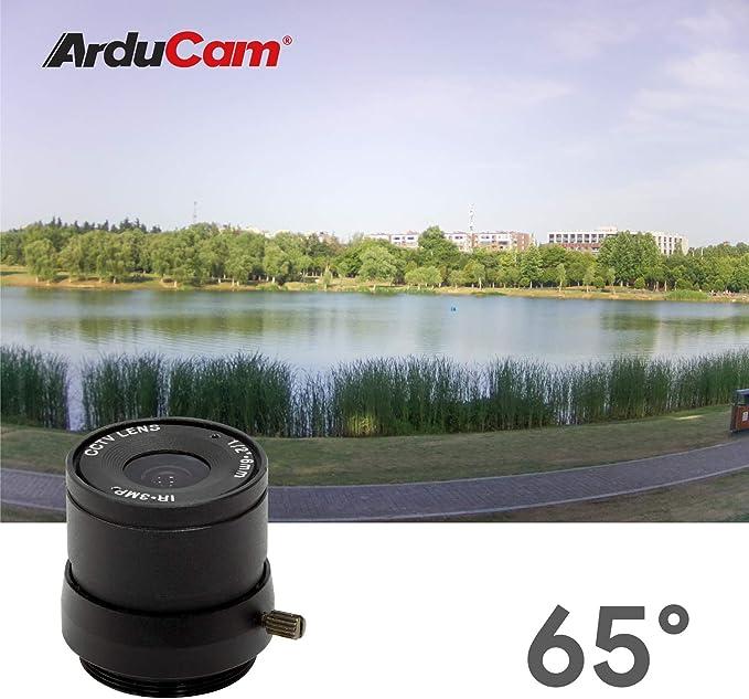 Arducam Lens For Raspberry Pi Hq Camera Wide Angle Cs Mount Lens 6mm Focal Length Manual Focus
