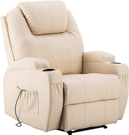 Mcombo Relax Fauteuil Fauteuil TV TV fauteuil inclinable tourne avec repose pieds acier