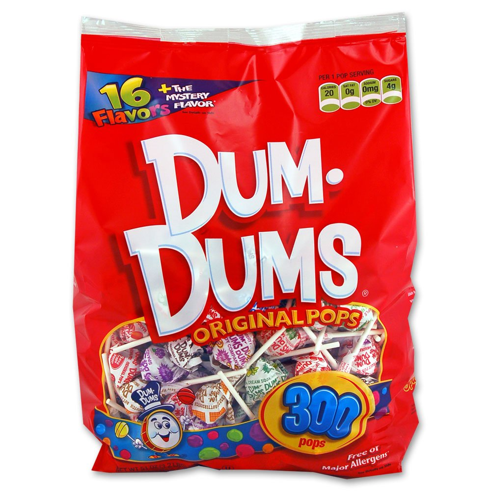 DUM DUMS Lollipops, Variety Flavor Mix, 1,800 Count Bulk Box
