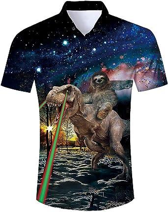 Spreadhoodie Camisa de Playa para Hombre Casual 3D Funky Manga Corta Hawaii Summer Camisetas Tops Blusa M-XXL: Amazon.es: Ropa y accesorios