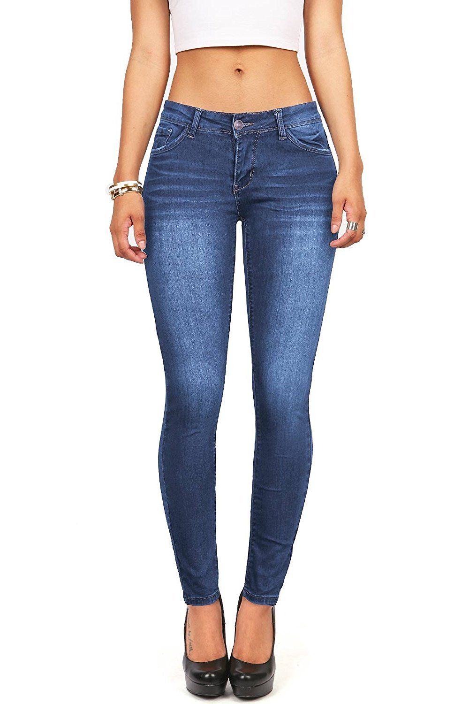 Wax Women's Juniors Timeless Low Rise Stretchy Skinny Jeans (11, Medium Denim)