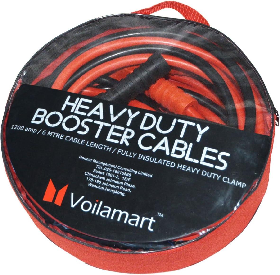 Instruction Van Voilamart Auto Jumper Cables 2//0 Gauge 3000AMP 20Ft W//Carry Bag