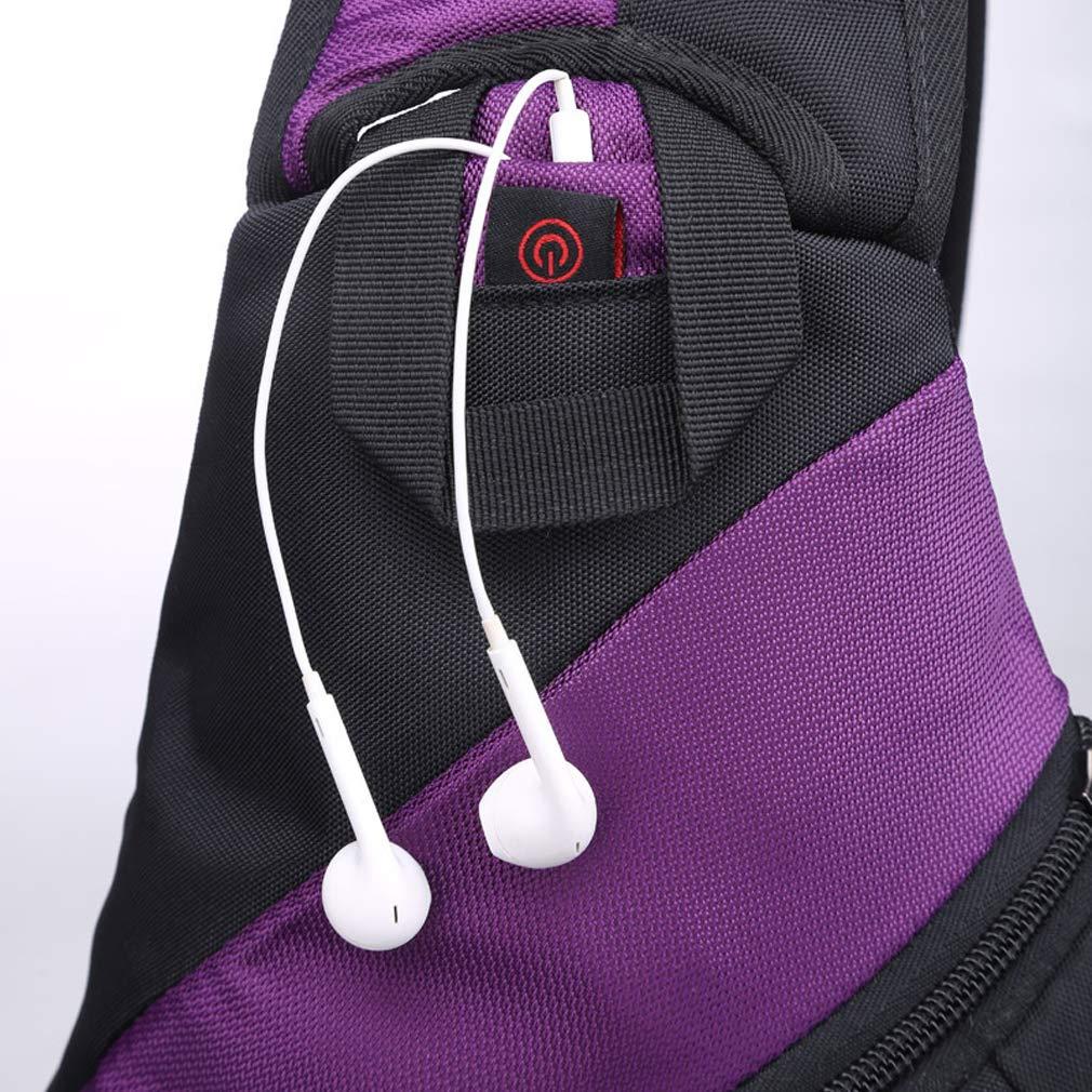 Blau Sling Bag Rucksack Umh/ängetasche Crossbody Tasche f/ür Damen und Herren Verstellbarem Schultergurt Schulterrucksack f/ür Reisen Wandern Radfahren Outdoor