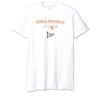 FIFA Young Men's Officially Licensed Korea Republic Men's Tee Shirt, White, Large: Sports & Outdoors