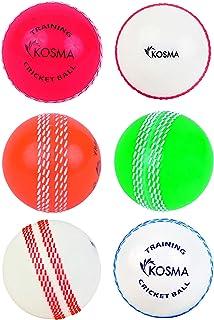 Kosma KG-26224 Balle de Cricket Mixte Enfant Rouge/Rose/Orange/Vert/Blanc Taille Unique