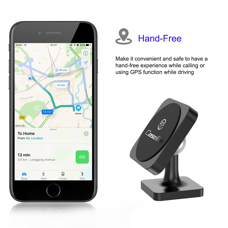 CaseMe Soporte magn/ético universal para tel/éfono m/óvil giratorio de 360 grados para rejilla de ventilaci/ón en salpicadero de coche