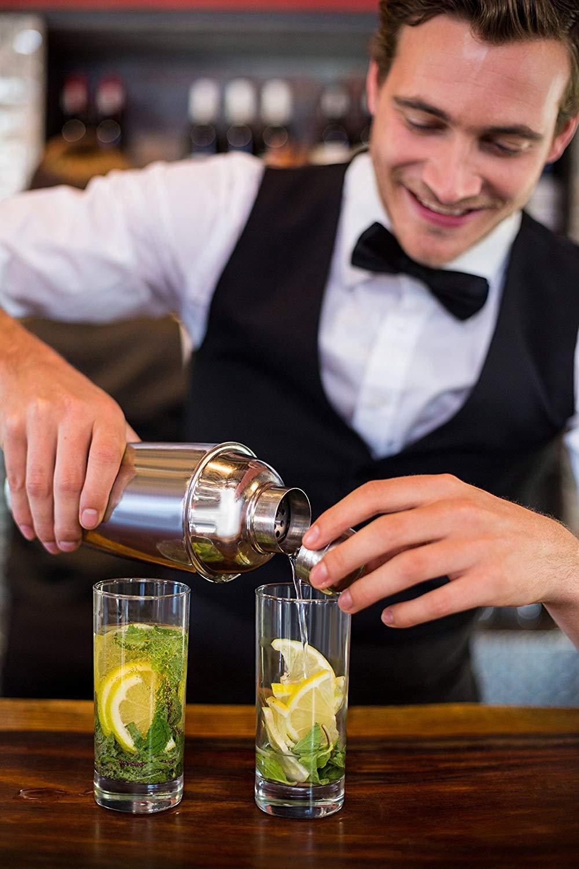 Recettes de cocktails 10Pcs Shaker Cocktail Professional Set Bar Tool Kit Haute Qualit/é Acier Inoxydable| coffret cadeau /él/égant Ensemble Complet Bar Shaker /à Cocktail Set Facile /à Nettoyer