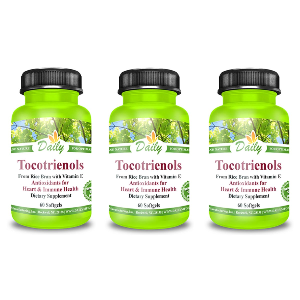 Daily Manufacturing Tocotrienols Antioxidants for Heart & Immune Health 60 Softgels (3)