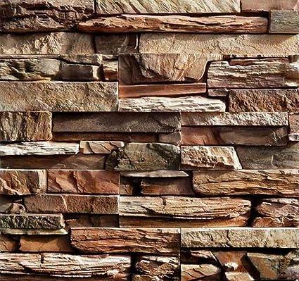 Buckdirect Worldwide Ltd. 2pcs moldes de plástico para Yeso Hormigón Muro de Piedra de Pizarra