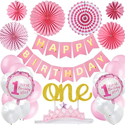 We AreI Am ONE Banner Birthday Banner Pink and Gold First Birthday Photo Prop