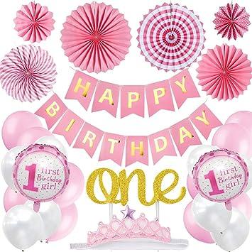 Amazon.com: Bebé primer cumpleaños decoraciones Banner