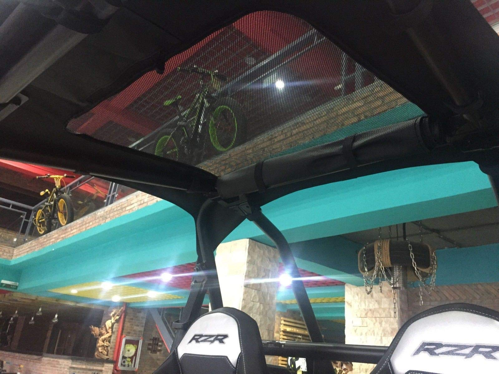 UTV Cab Pack Storage Bag & Soft Roof for Polaris RZR 900 XP 1000 Turbo 900 S Trail by kemimoto (Image #6)