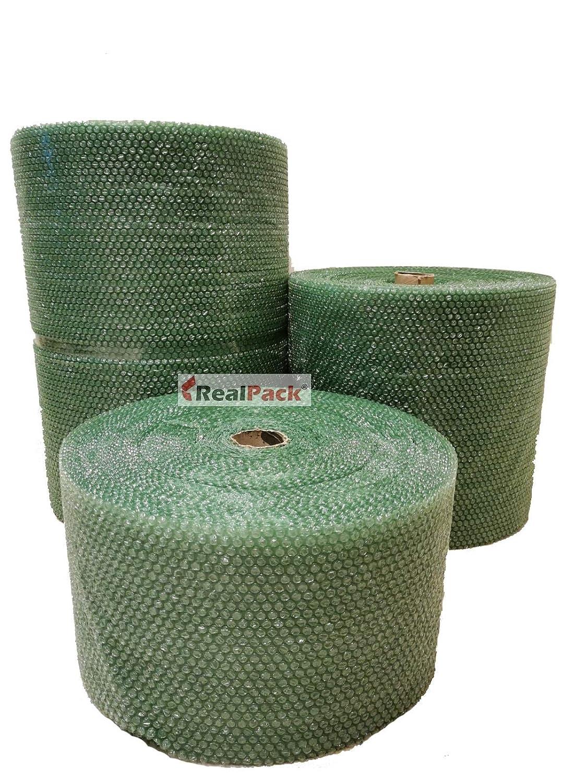 300 mm x 10 m ecologico antistatico Realpack 300 mm Rotolo di pluriball riciclabile