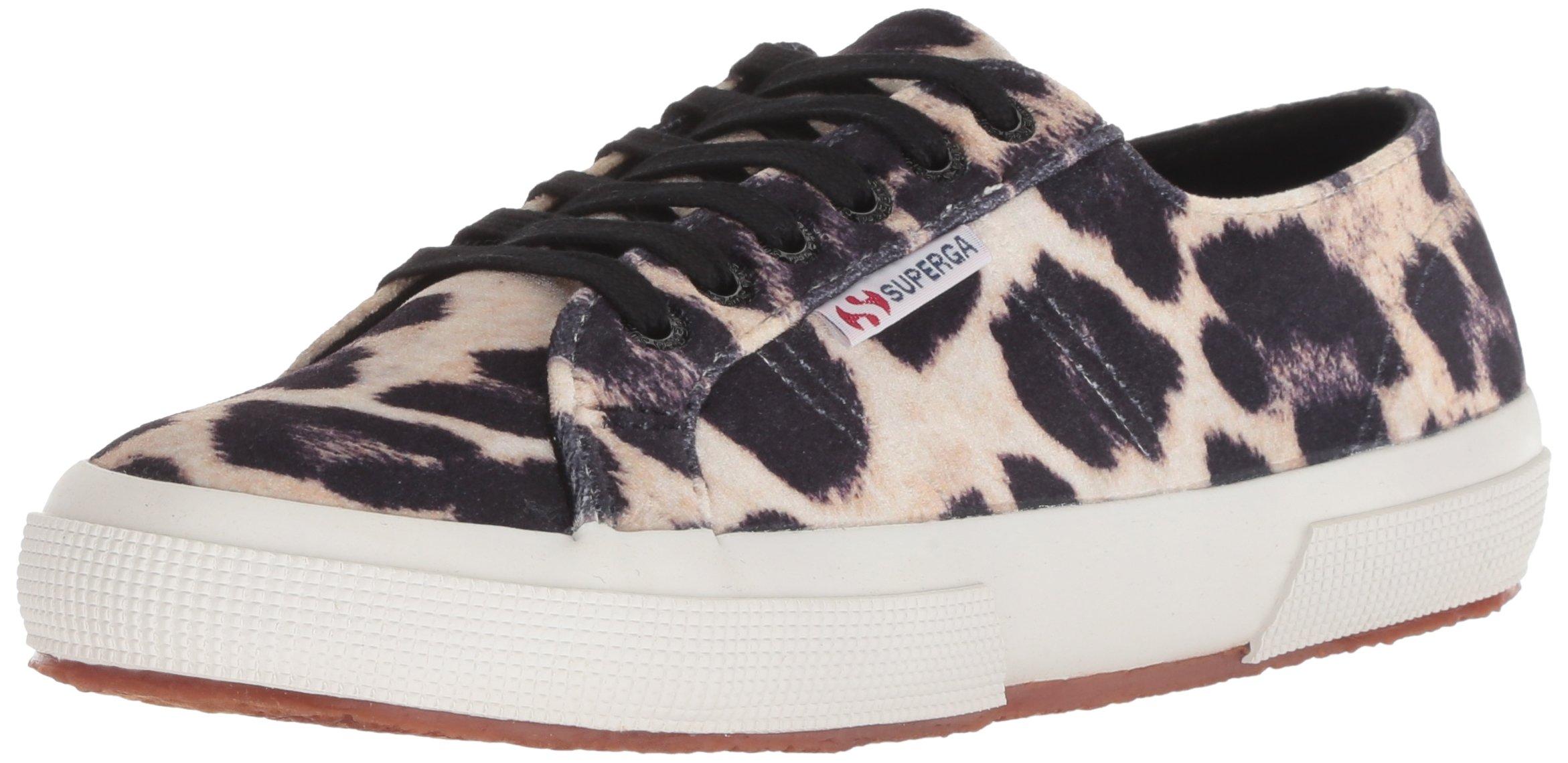 Superga Women's 2750 Fanvelw Sneaker, Leopard, 38 M US